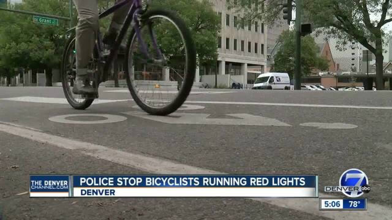 DPD busts alleged red light running bicyclists