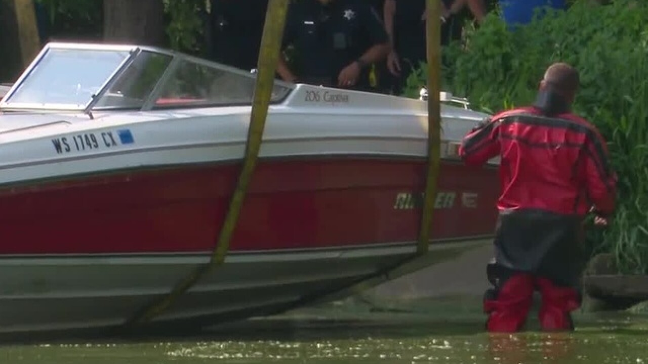 Police searching for two women after boats crash