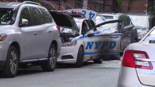 Police car set on fire on Upper West Side