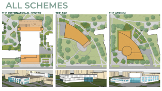 Potential building renderings for MSU Multicultural Center by Moody Nolan and Hamilton Anderson Associates