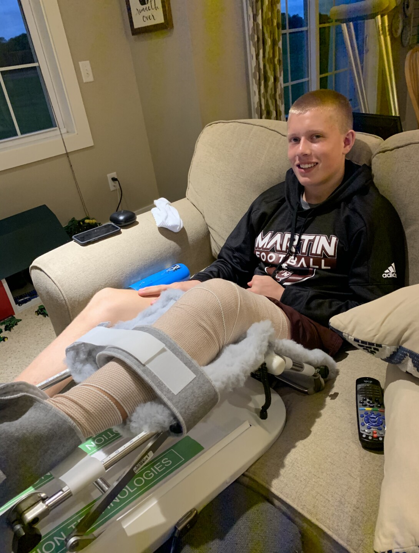 Sam Jager during injury