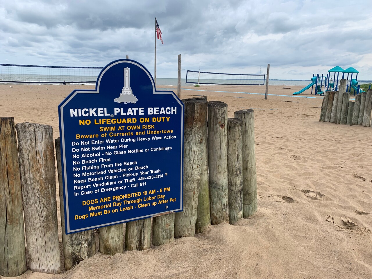 Nickel Plate Beach no lifeguard