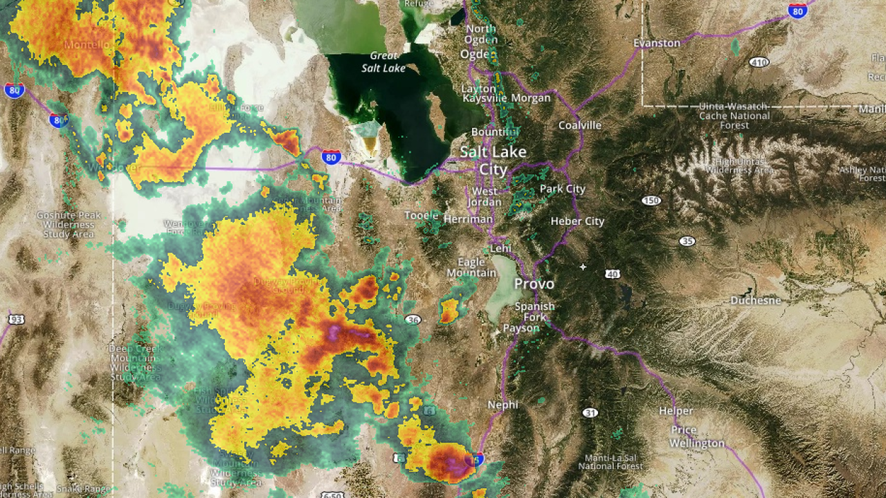 Flash flood warning issued in Utah County, severe weather approaching Wasatch Front