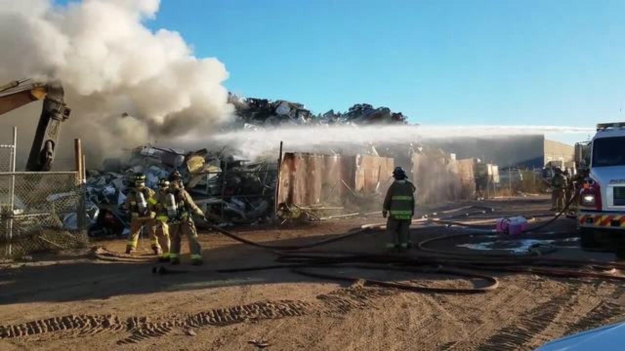 Crews puts out metal recycling plant blaze