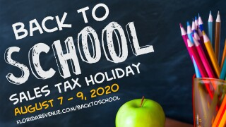 The 2020 Back-to-School Sales Tax Holiday is happening this weekend.