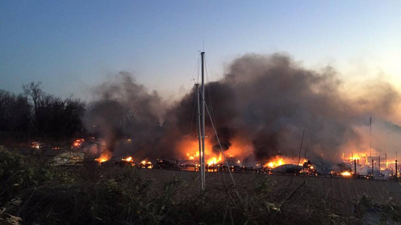 Two people killed in massive fire at Dozier's marina inUrbanna