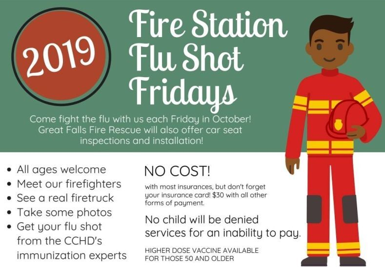 """Flu Shot Fridays"" at Great Falls fire stations"
