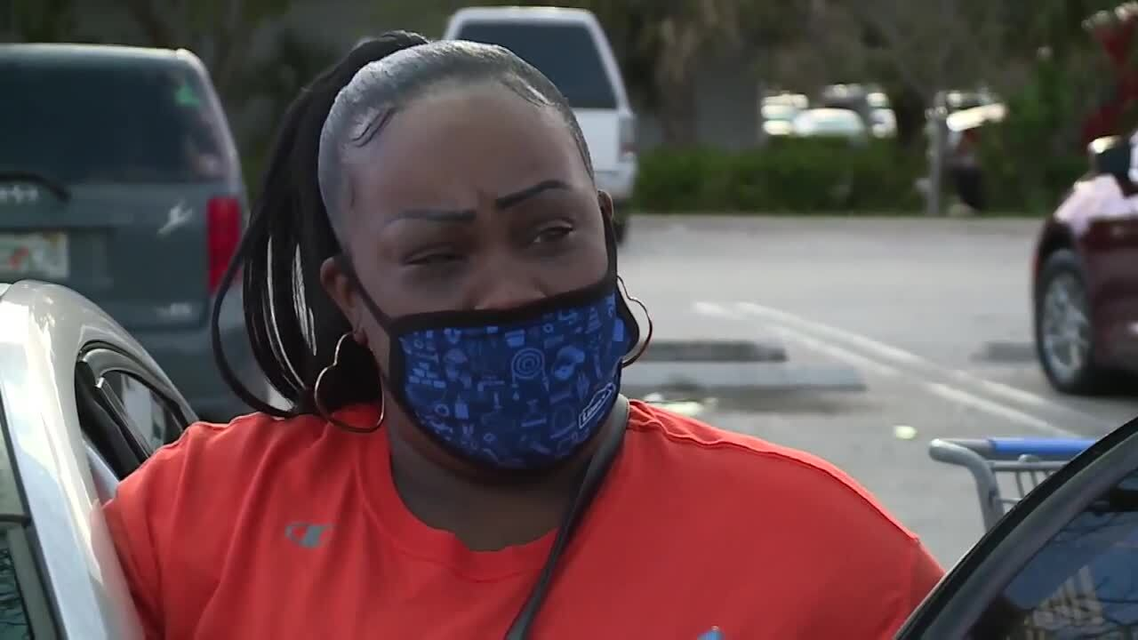 Cyrene Wise questions mask policies during interview outside Walmart, May 15, 2021