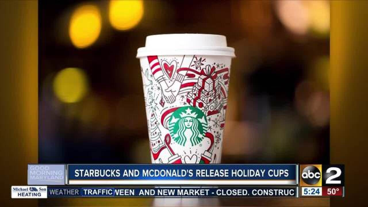Starbucks and McDonald's release holiday cups