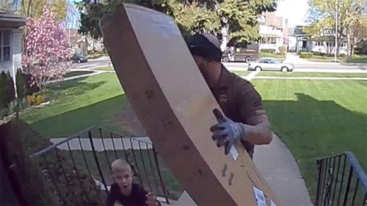 UPS driver saves boy