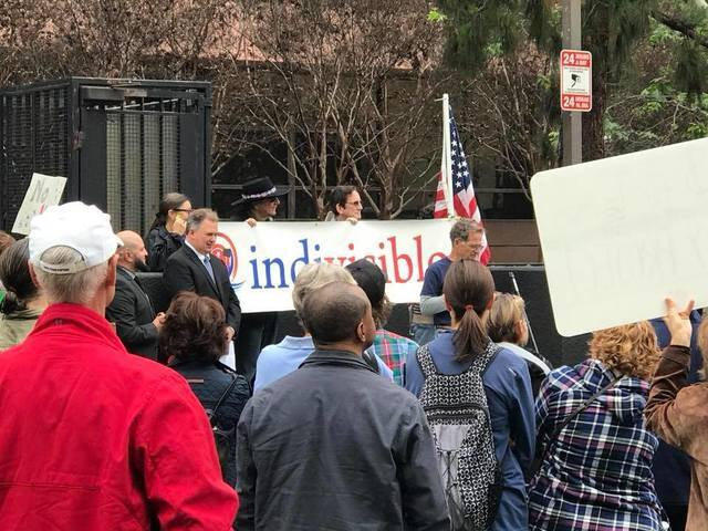 PHOTOS: Protests and rallies in Otay Mesa during President Trump's visit