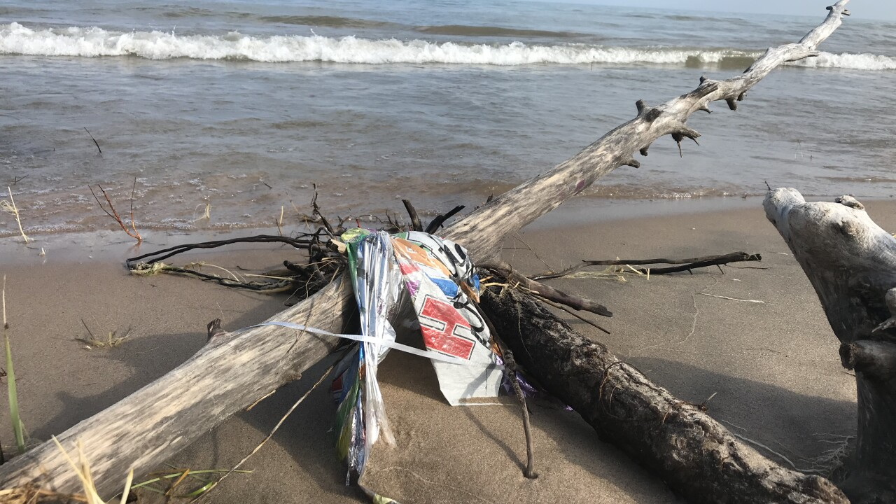 Balloon debris in Manitowoc