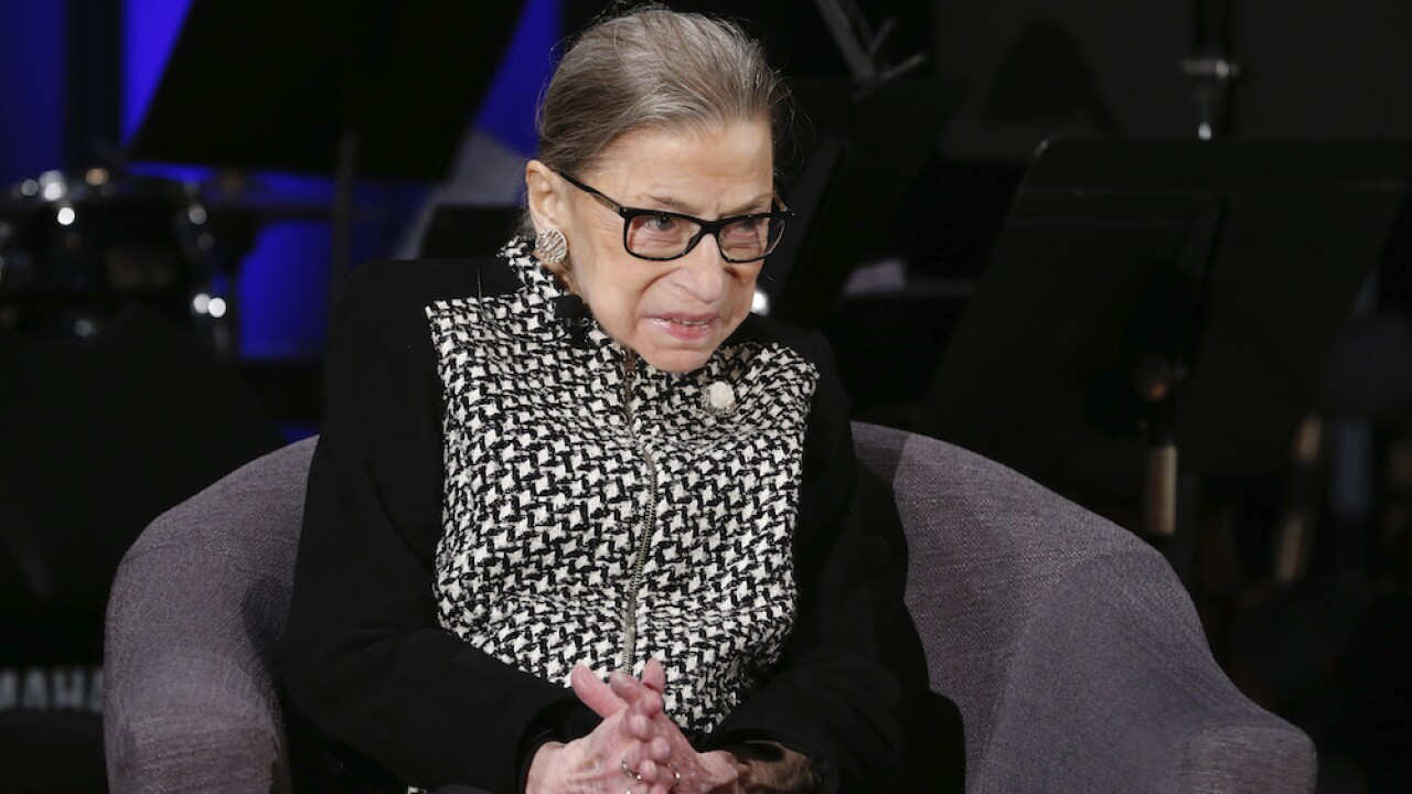 Ruth Bader Ginsburg officiates wedding for family friend