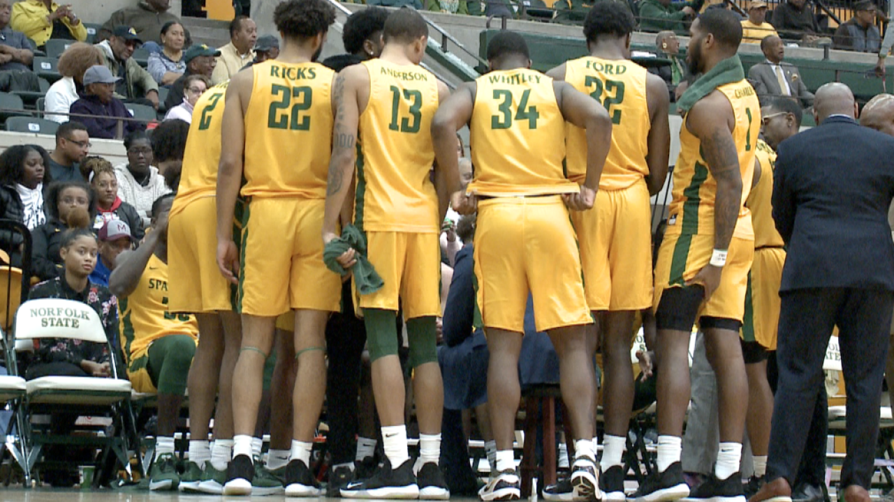 Norfolk State men's basketball takes sole possession of 1st place in MEAC