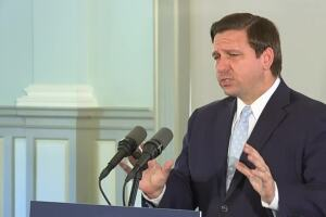 Who has Gov. Ron DeSantis met with the most, how often since the pandemic?