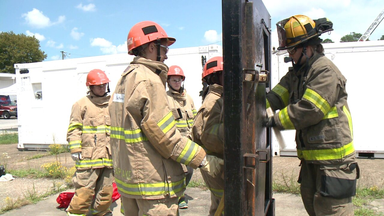 Local Girl Scouts partner with Norfolk Fire-Rescue for week longcamp