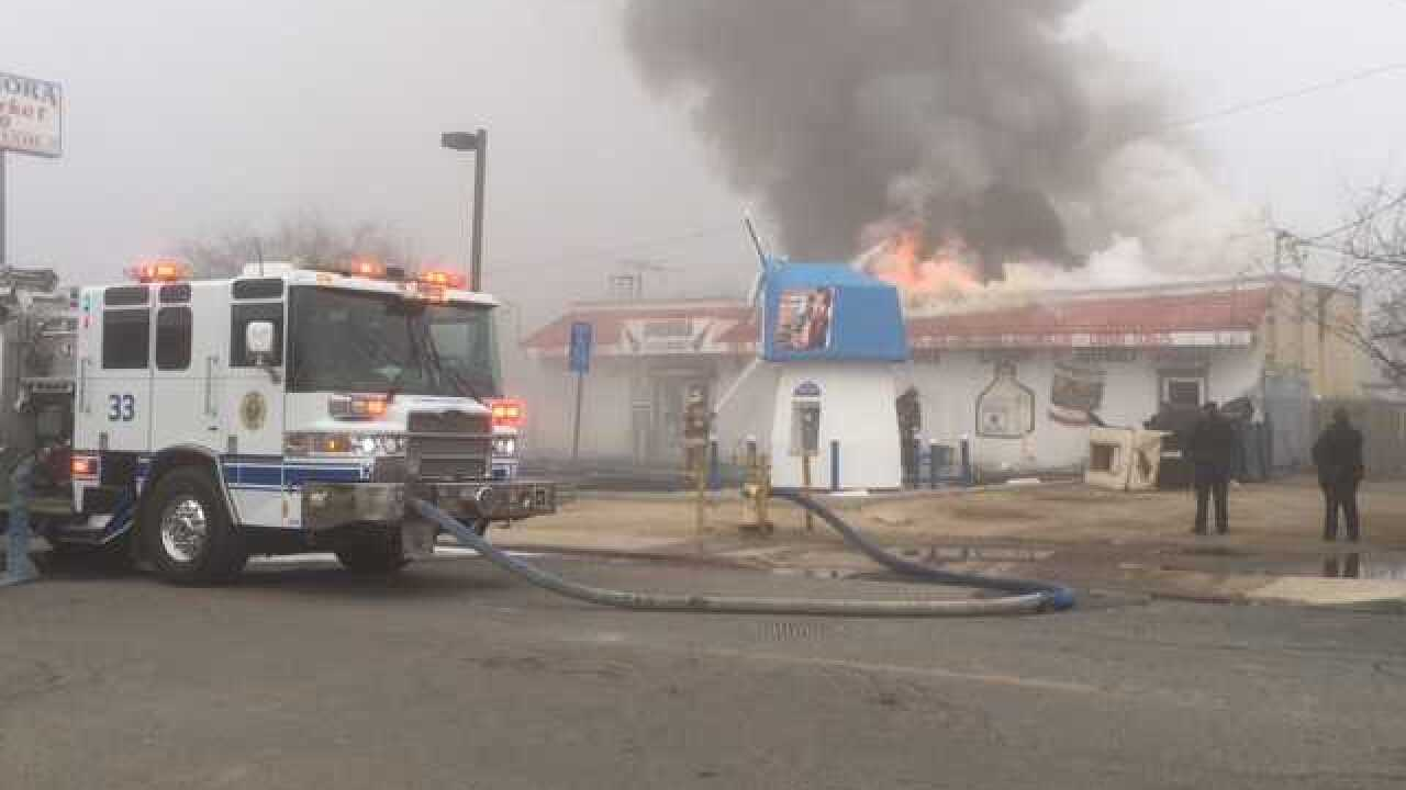 Convenience Store on fire