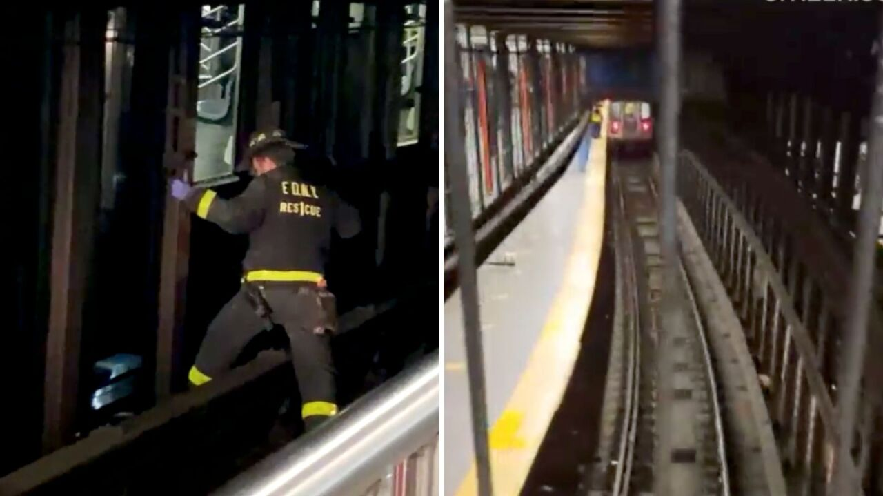 Man arrested for allegedly pushing woman in front of train at New York subway station