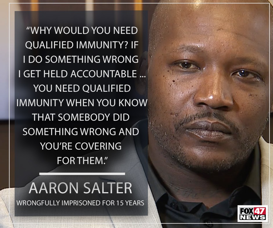 Salter said qualified immunity made it harder for him to receive justice.