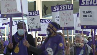 seiu local 105 janitor strike airport strike denver international airport