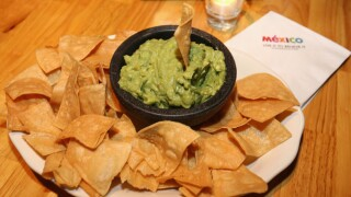 A view of guacamole during Flavors of Mexico Presented by Mexico Tourism during The New Yorker Festival 2016 at Casa Neta on October 8, 2016 in New York City.