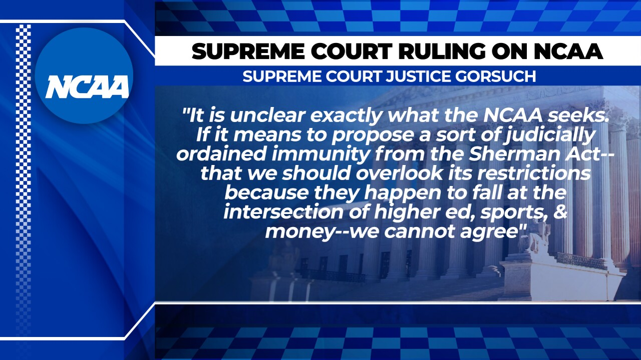 Gorsuch NCAA quote