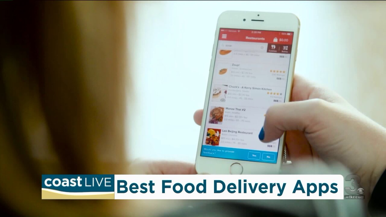 Comparing and choosing from the menu of food delivery apps on CoastLive