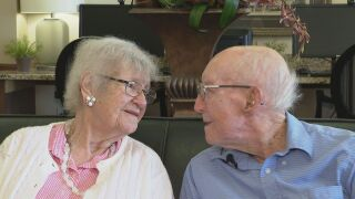 Left to right: Mary Ann & Howard Mills. The Pueblo couple has been married for almost 70 years.