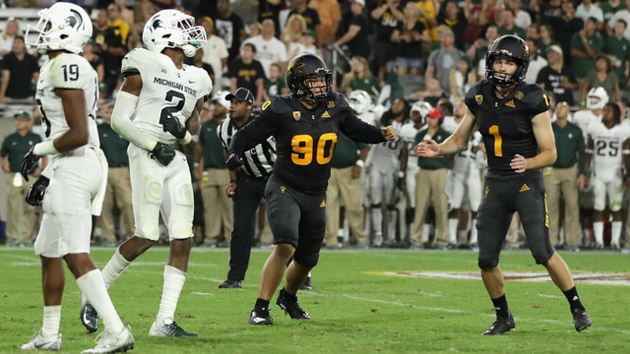 Michigan State falters at Arizona State, losing fourth quarter lead