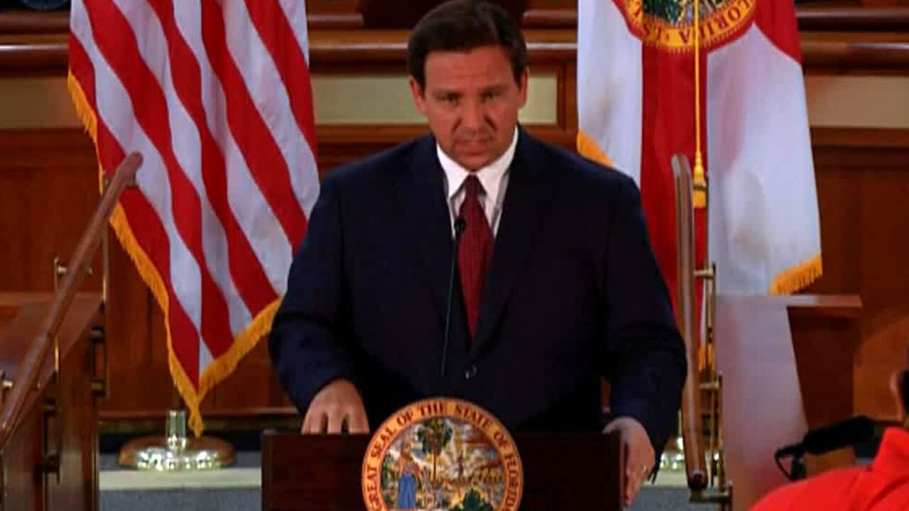 Gov. Ron DeSantis news conference at the state Capitol on March 8, 2021