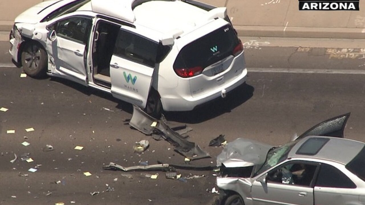 Self-driving car crash in Arizona: Red light runner hits