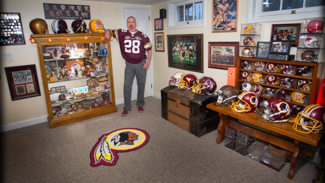 Washington Football Team fan cave