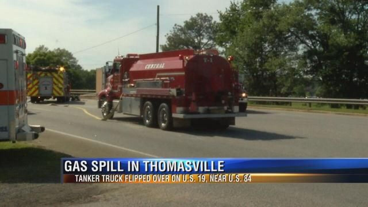 Driver Charged in Thomasville Tanker Spill