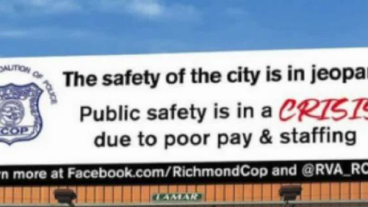Police union billboard claims Richmond is in crisis because cops need more pay