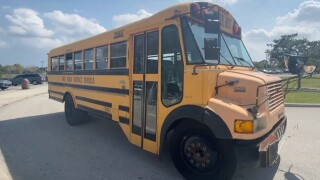 new school bus for ESE students at Jupiter Community High School