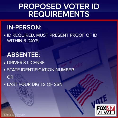 Proposed Voter ID Requirements