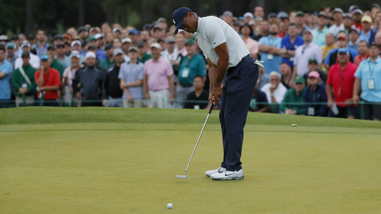 Some 'major' congestion atop leaderboard at The Masters, including Tiger Woods