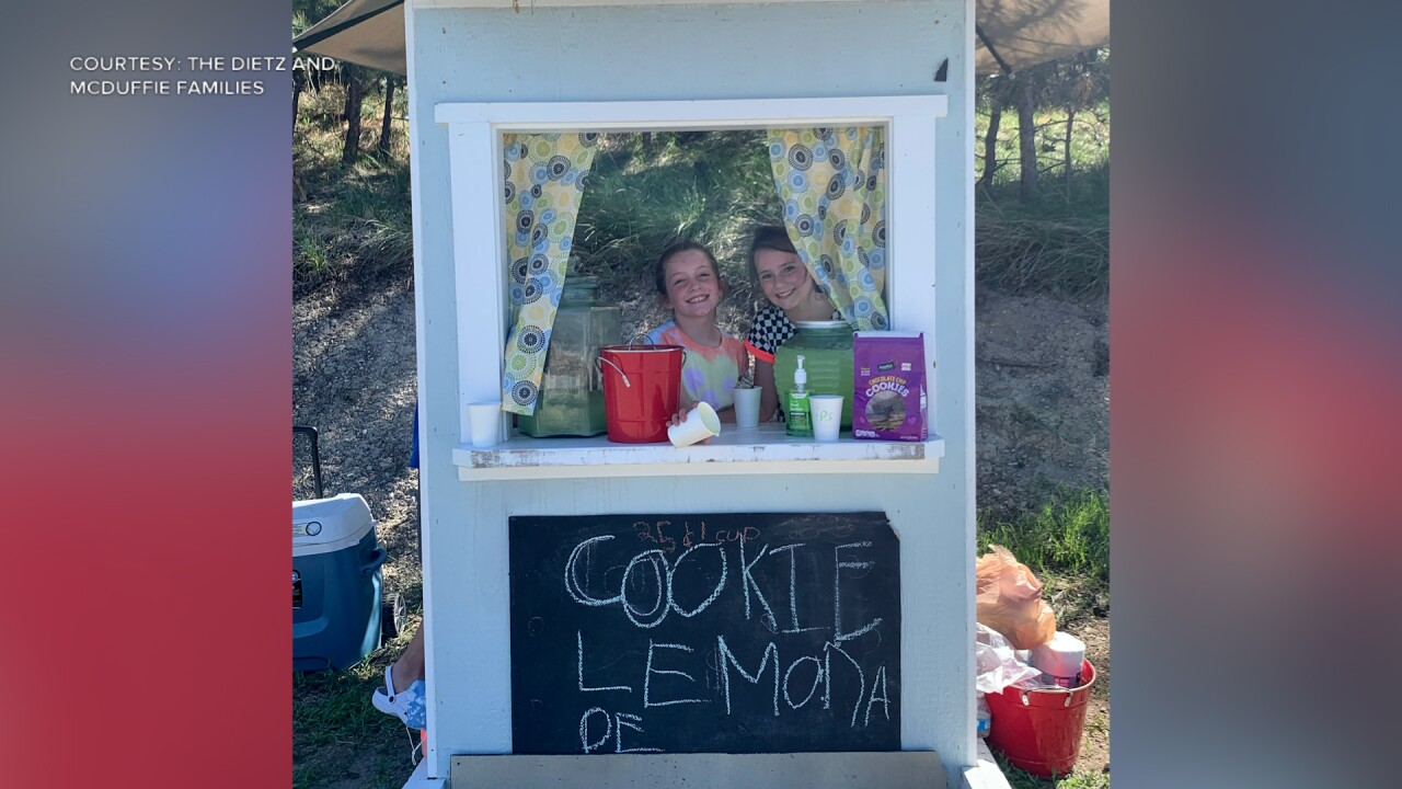 Best friends donate lemonade stand earnings to Helena Food Share
