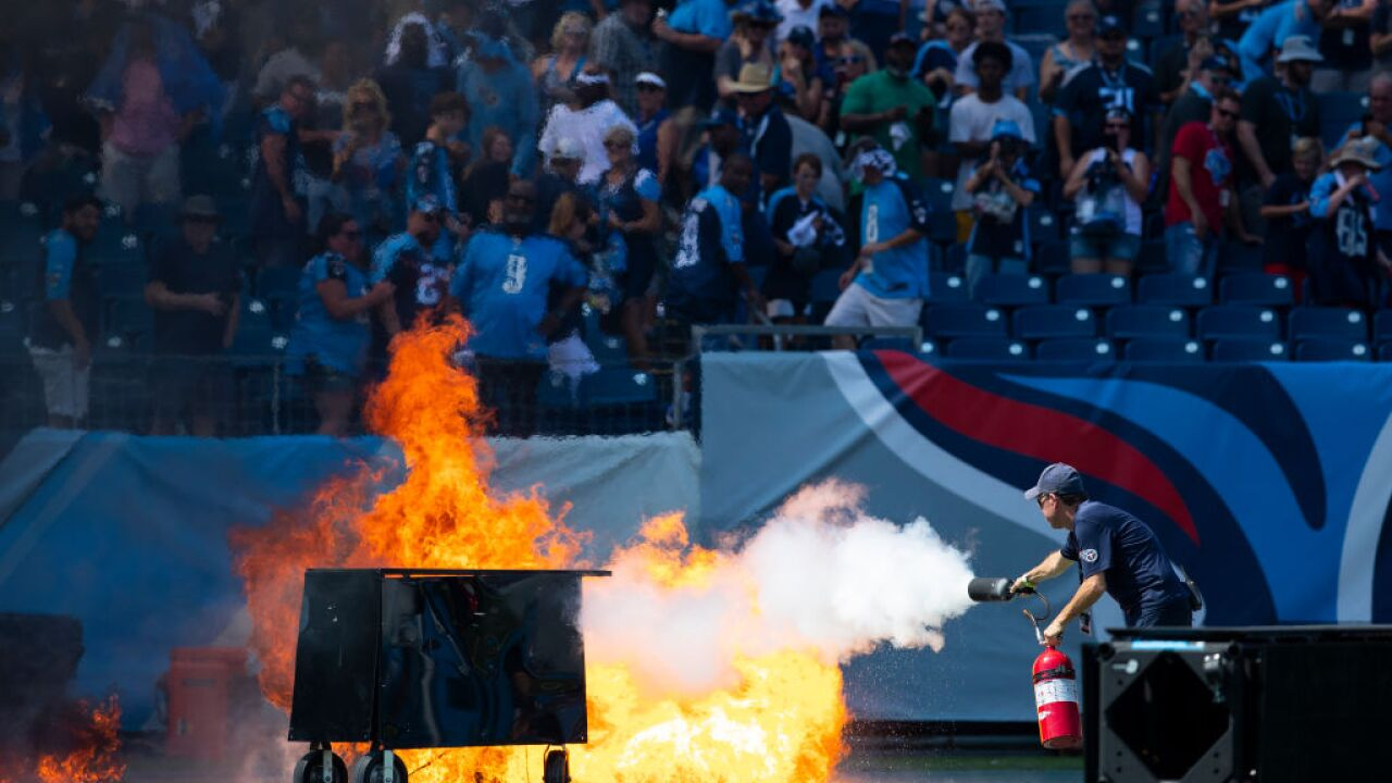 NFL to teams: Keep pyrotechnics off the field