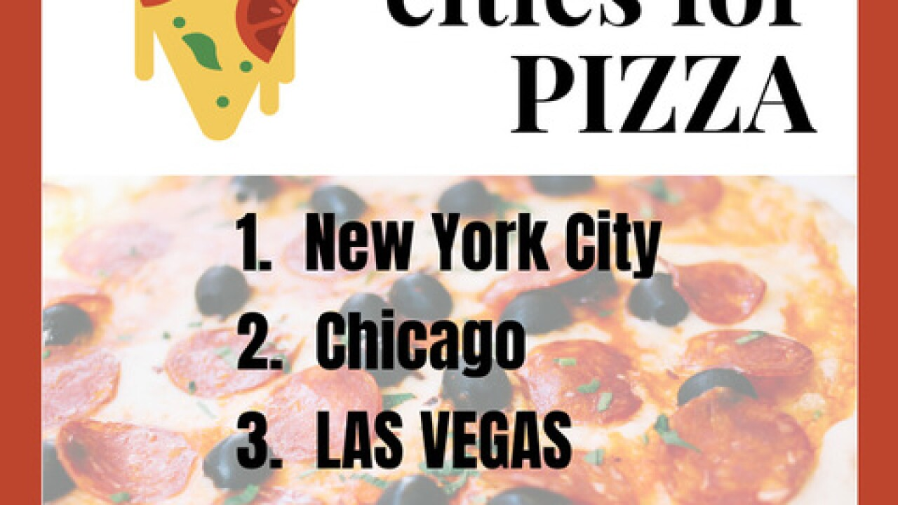 Las Vegas included in list of Top 5 Pizza Cities
