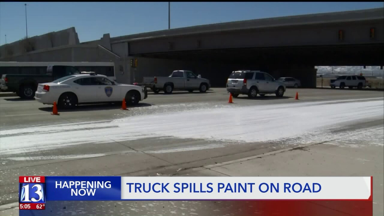 Cleanup underway after 250-gallon paint spill in South Salt Lake