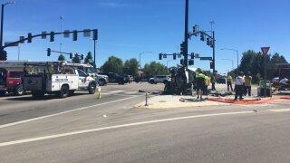 Crash on Eagle Road