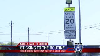 School zone lights on halt