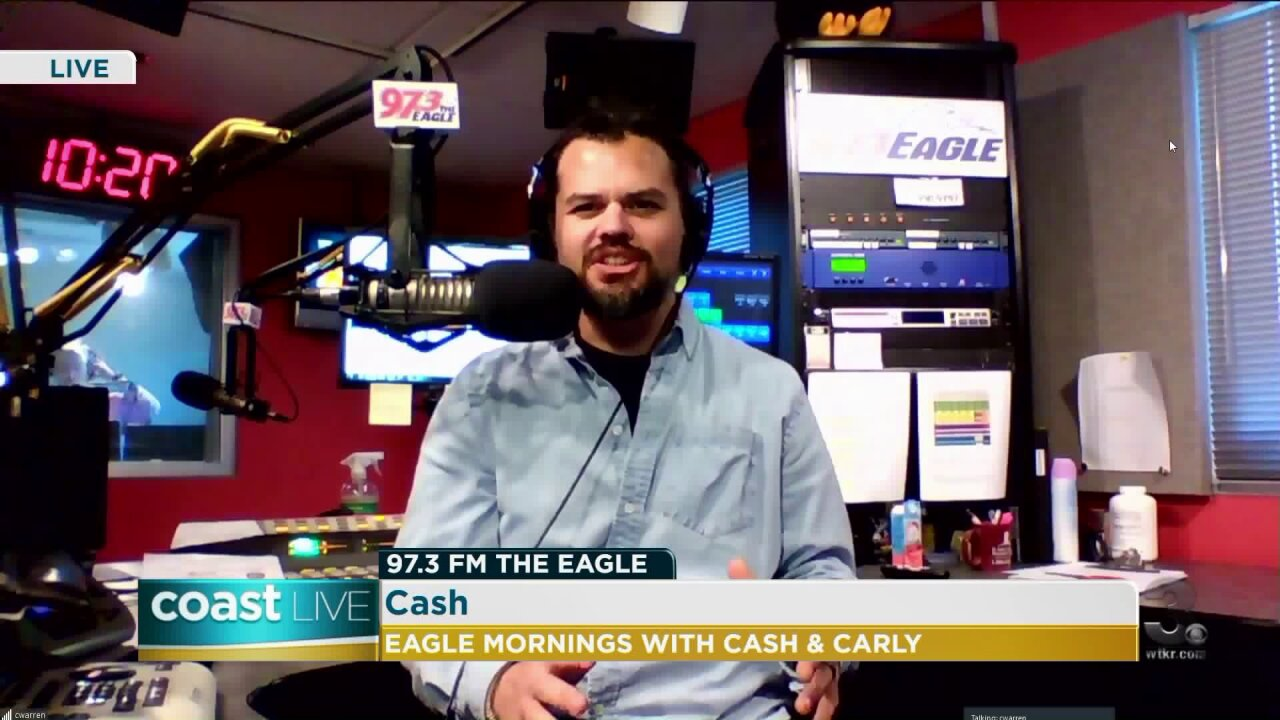 Country music news wish Cash from 97.3 The Eagle on Coast Live