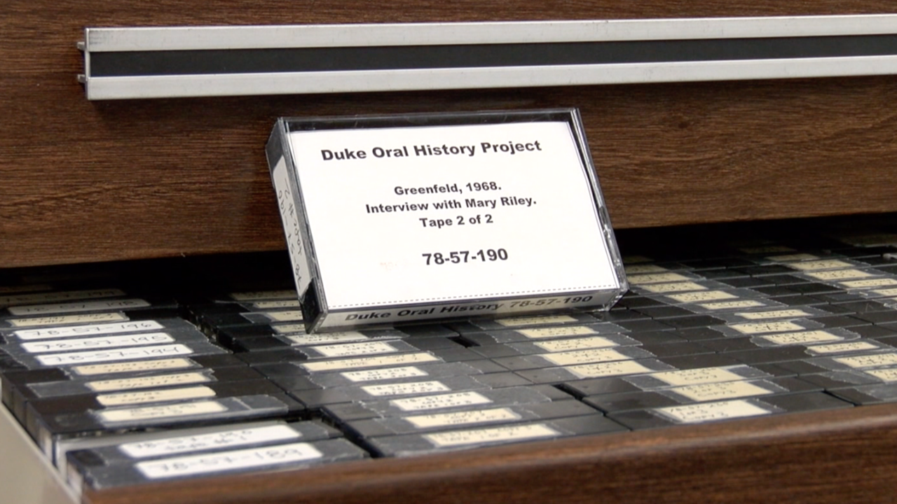 Native American oral history tape