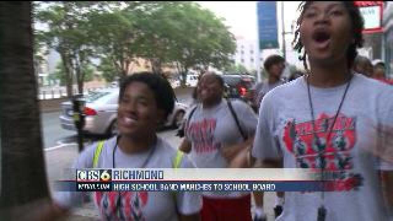 Students march to City Hall, need new band director