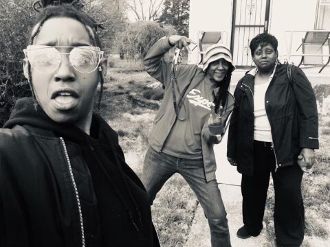 In this undated photo, Siri Imani stands closest to the camera, wearing sunglasses and sticking out her tongue. Her mom, Jennie Wright, poses in the middle of the photo with her right arm bent. Wright's mother, Linda Wright, stands at the right of the photo with a slight smile.