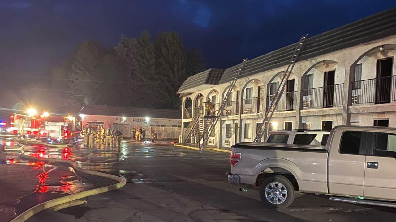 Logan firefighters battle fire at motel on Main Street
