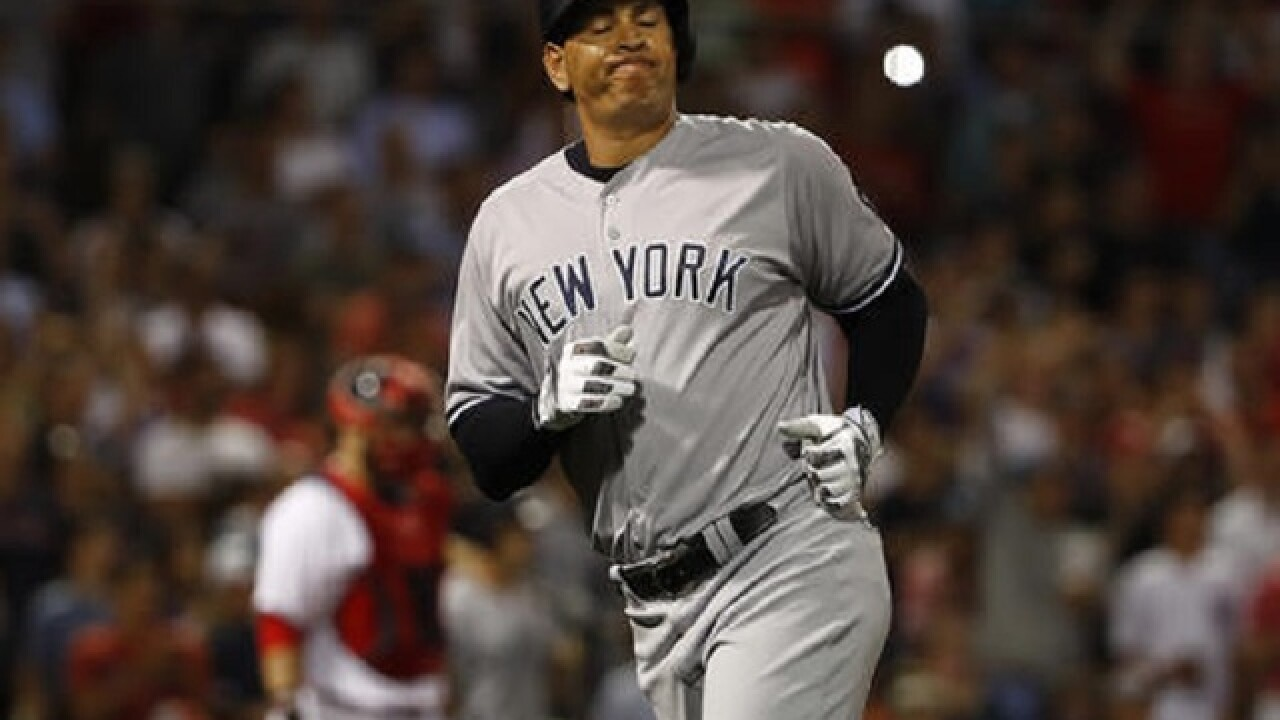 Benched A-Rod pinch hits, Yanks beat Red Sox 9-4