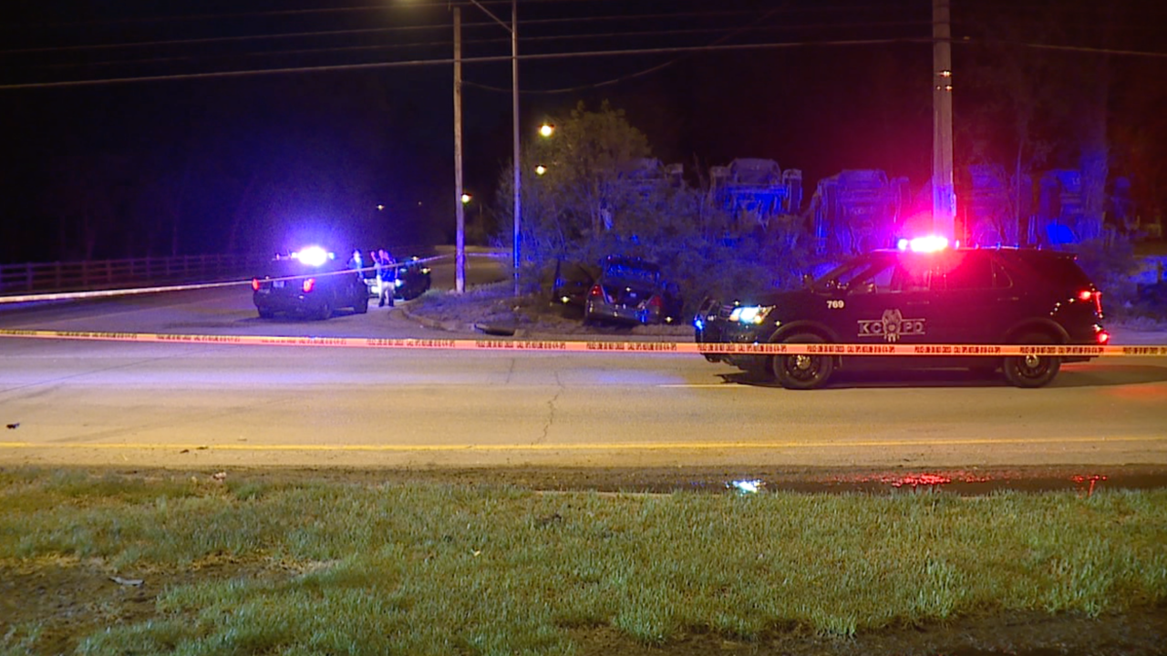Two injured after crash,shooting at 63rd & Hardesty
